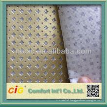 High Quality Metallic Crystal Decorative PU Leather