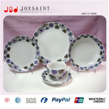 Vajilla de porcelana caliente de China modificado para requisitos particulares 14 de la pulgada para promocional