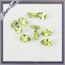 Pear Peridot Natural de alta qualidade para jóias