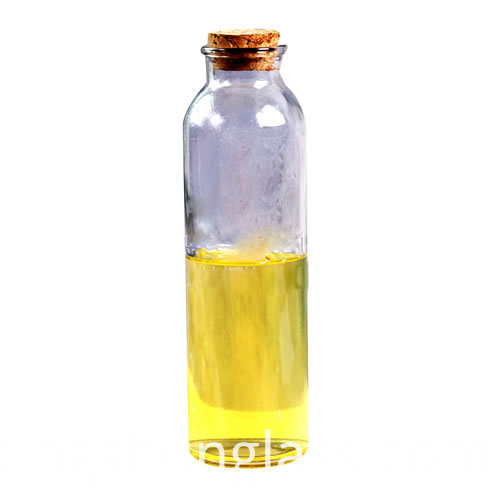 Round glass stopper cover glass bottle