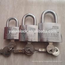 Top security double steel ball locking dual row pins padlock