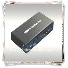 Commutateur HDMI 4x1 (quatre signaux d'entrée HDMI commutés sur un seul appareil antibruit HDMI)