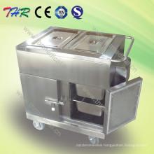 Electric Stainless Steel Heating Food Trolley