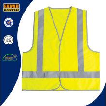 Chaleco de seguridad reflectante de poliéster de alta visibilidad