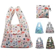 custom eco-friendly food packaging bag resusable waterproof nylon big shopping tote bag