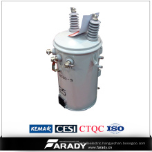 overhead pole-type oil immersed distribution electric transformer
