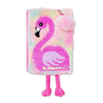 FLAMINGO FLIP SEQUIN NOTEBOOK-0