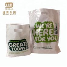 Оптовая Торговая Упаковка 100% Биологически Разлагаемых Био Биоразлагаемые Вырубной Ручкой Пластиковый Мешок