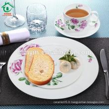 Ensemble de dîner élégant et élégant en porcelaine
