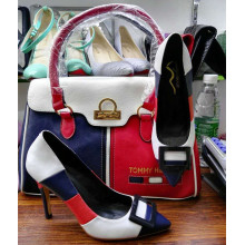 Stitching Color High Heels with Handbags (G-6)