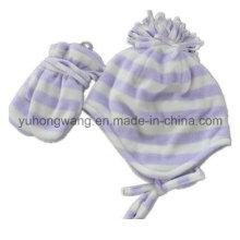 Cheap Lady tejido de invierno caliente polar polar impreso conjunto