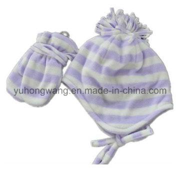 Cheap Lady Knitting Winter Warm Printed Polar Fleece Set
