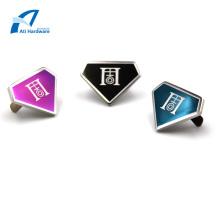 Acessórios e sacolas de metal personalizados Etiqueta e logotipo de metal