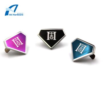 Étiquette et logo en métal faits sur commande d'accessoires de sac en métal