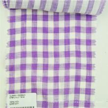 клетчатый ткань из льна материалы usded для одежды