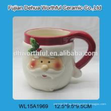 Taza cerámica al por mayor de santa para el regalo 2016 de la Navidad