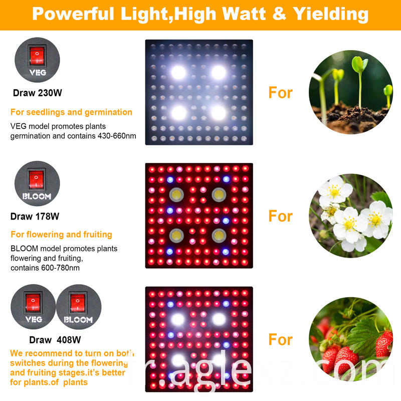 led grow light veg bloom