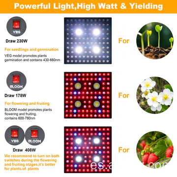PPE 2.8umol / j Full Spectrum 2000Watt LED Grow Light