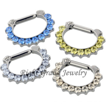 316L Surgical Steel Nose Clicker Ring Nose Piercing Septum Jewelry