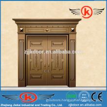 JK-C9026 front double door designs/house copper door/exterior villa door