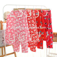 Franela de la mujer caliente pijama suave paño grueso y suave