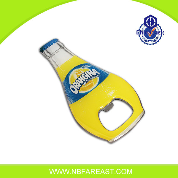 custom bottle opener fridge magnet