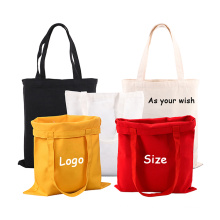 Eco-friendly Minimalistic Canvas Tote Bag Durable Washable Grocery Cotton shopping bag