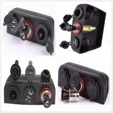 Car Dual Marine Cigarette Lighter Splitter Car Dual Marine Cigarette Lighter Splitter Power Adaptor Sockets USB Charger + Power Adaptor Sockets