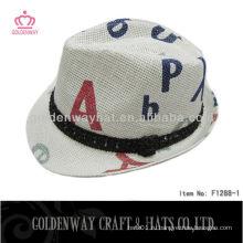 Бумажная мода Fedora Hat дешевое стимулирование естественного соломы заводского питания