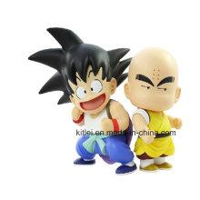 Mini figura de acción de anime Kongfu niños muñeca de plástico modelo de juguete