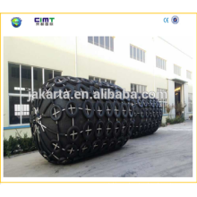 2015 Year China Top Brand Cylindrical Tug boat marine rubber fender with Galvanized Chain