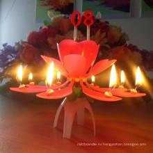 Музыкальная свеча с цветочным ярусом /