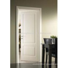 Puerta de madera pintada blanca del artesano para la habitación del hotel
