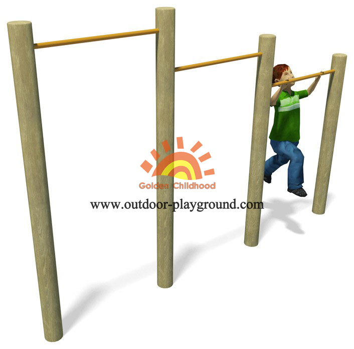 Wooden Uneven Bars Balance Playground
