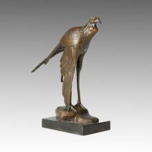 Animal Bronze Sculpture Bird Carving Deco Brass Statue Tpal-157