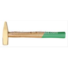 Латунь молоток с деревянной ручкой, анти искры безопасности инструменты