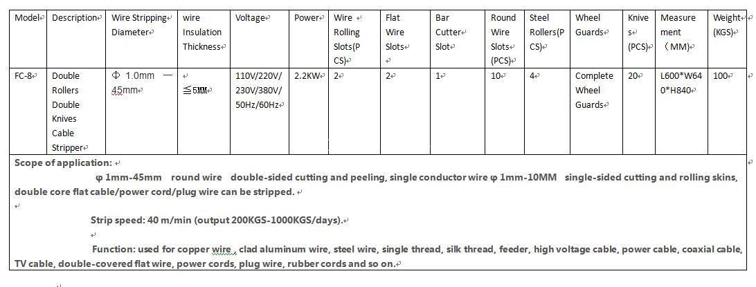 wire cut and strip machine