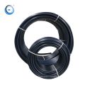 Black water supply polyethylence irrigation hdpe pipe with blue stripe