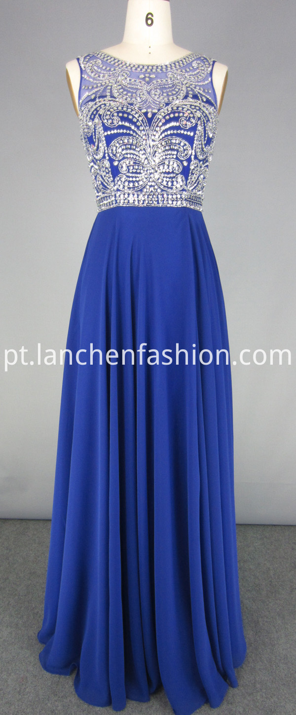 Navy Chiffon Bridesmaid Dress