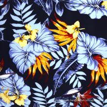 100% viscose hawaii print rayon fabric wholesale