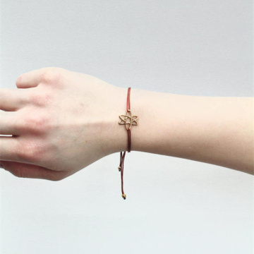 Pulsera hecha a mano simple Six Star Girl Pulseras