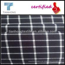 Kundenspezifische Hot Sell Schecks drucken Spandex/Baumwolle gemischt Stoffe für Damen Röcke