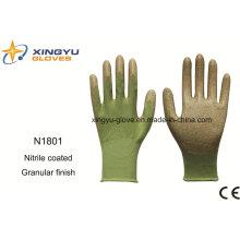 Полиэфира Оболочки Нитрила Покрытием Безопасности Рабочие Перчатки (N1801-1)