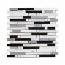 Soulscrafts Wall Decor Mix Color Glass Stone Mosaic for Bathroom