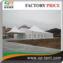 Tente de luxe avec porte vitrée utilisée pour le mariage et la réunion