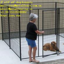 10'x10'x6' all welded anti-rust medium and big dog kennels
