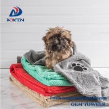 Medium und Large Pet Handtuch Mikrofaser Soft Bath Trockentücher für Hunde / Katzen