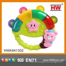 Venda Por Atacado Plastic Tambourine Baby Cartoon Rock Bell Com Luz