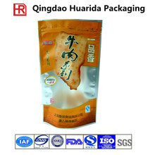 Bolso de empaquetado modificado para requisitos particulares de la carne de vaca de la impresión plástica del huecograbado del FDA