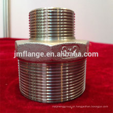 Aço inoxidável 304 / 316l redução hexágono mamilos